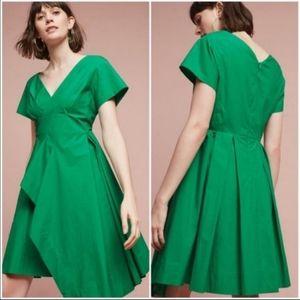 Anthropologie Maeve Green Dress NWT sz 12